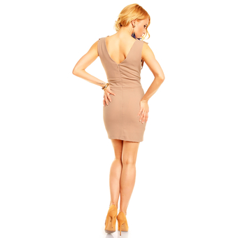 Dress Lucy Y8736 light brown 3 pieces