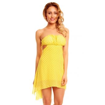 Kleid Mayaadi A038 Gelb-Schwarz - One Size
