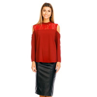 Blouse G330 bordeaux 1 Pieces