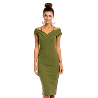 Kleid May Collection MC7086 Olive M