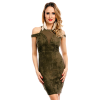 Dress Showny LR509-6 Khaki M