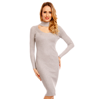 Kleid Lely Wood T6018 Gray - One Size