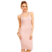 Kleid Lely Wood T6037 Rosa - One Size