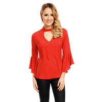 Top Long Sleeve SHK H1069 Red M