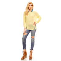 Pullover V&F Moda 1705 Yellow One SIze