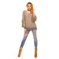Top Long Sleeve Fabio 8586 Brown - One Size