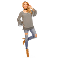 Top Long Sleeve Fabio 8586 Olive - One Size