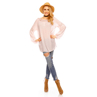 Top Long Sleeve Fabio 8598 Light Pink - One Size