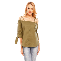 Top Long Sleeve Eight Paris EP15456 Khaki L