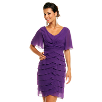 Dress Mayaadi HS-343  Purple L
