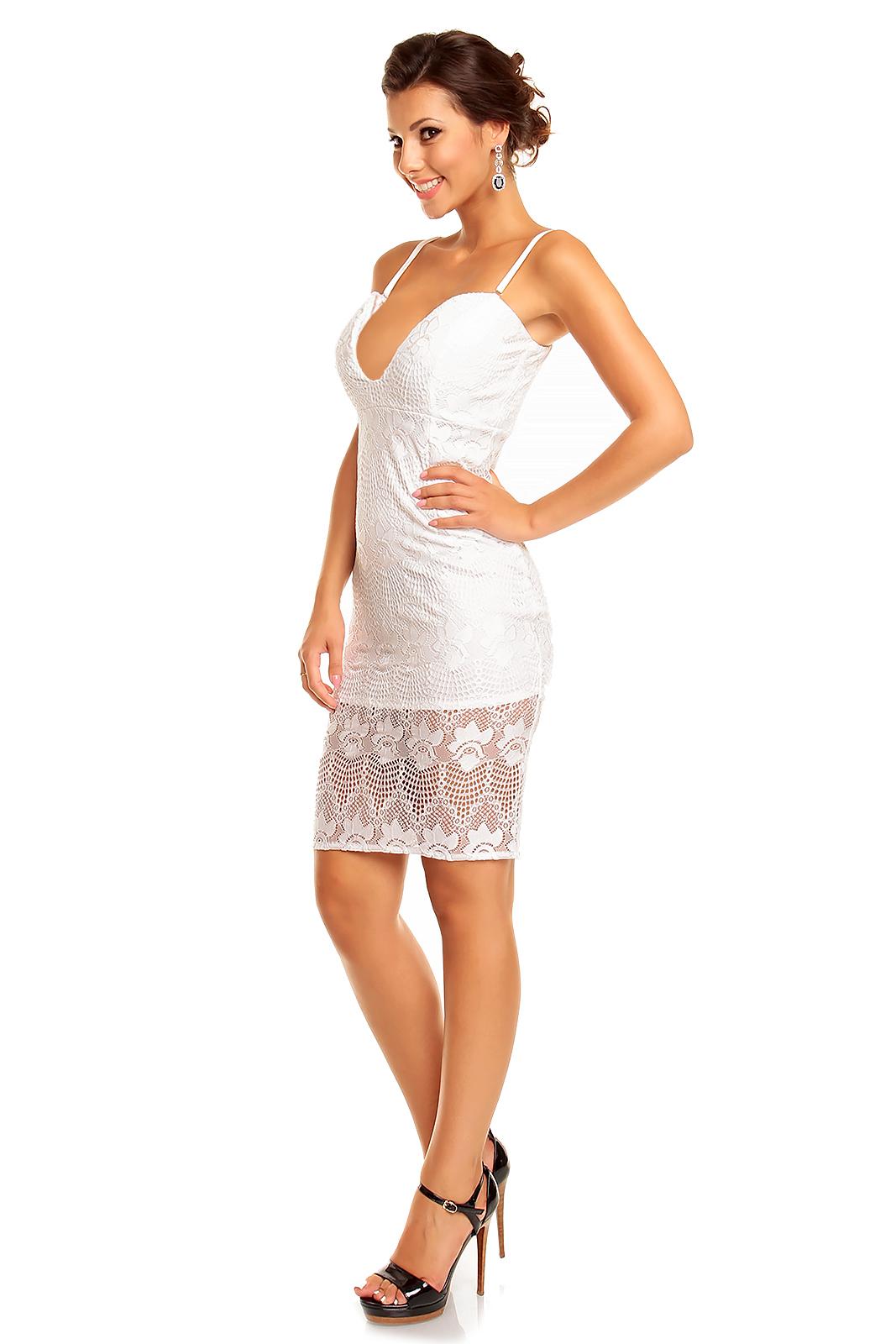 Kleid Mayaadi HS-342 Weiß M