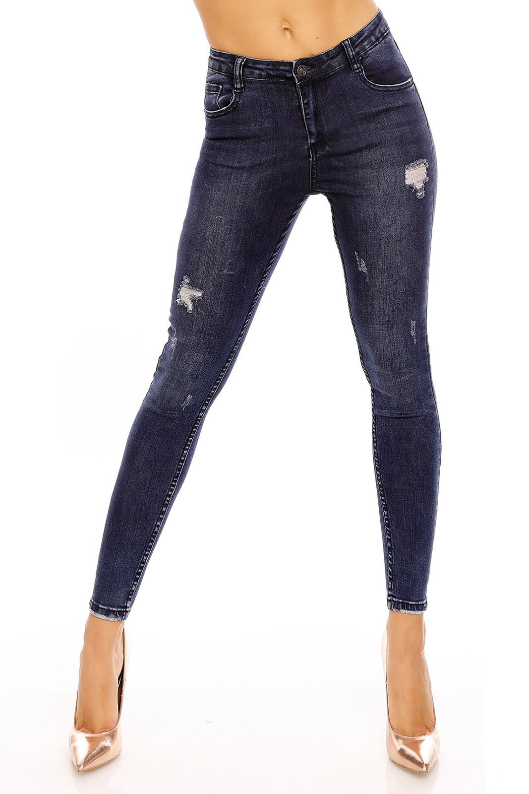 Pants Jeans Laulia 4D742 Dark Blue