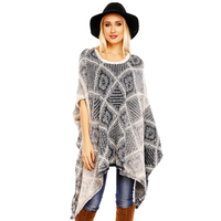 Poncho Bisous Project C1300 Cream-Dark Blue