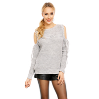 Pullover Miss Eleven IMP1002 Hellgrau - One Size