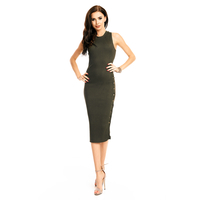 Kleid Lely Wood TJ6366 Olive - One Size