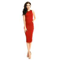 Kleid Lely Wood TJ6366 Bordeaux - One Size