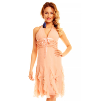 Dress Mayaadi HS-310A Light Salmon M