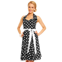 Dress Mayaadi HS-5101 Black-White S/M