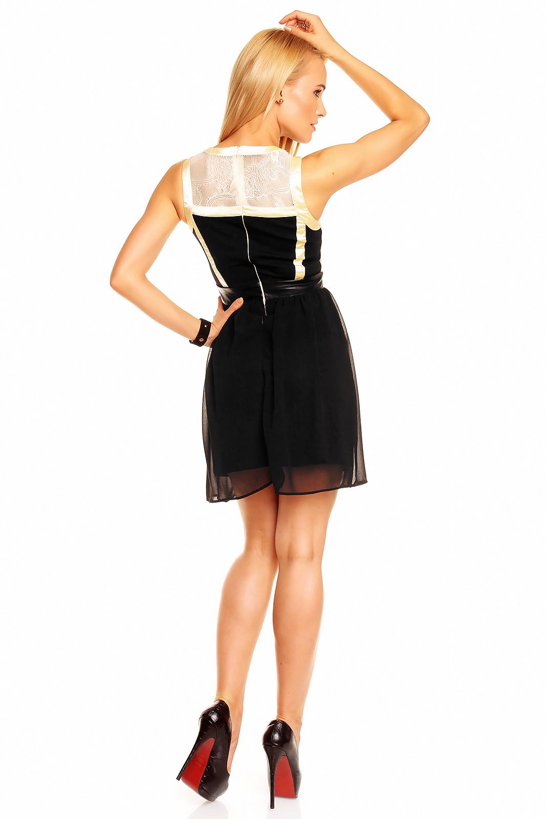 Kleid Mayaadi HS-302 Creme-Gelb-Schwarz XL