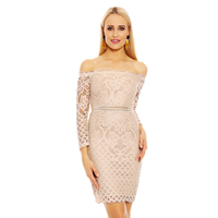 Kleid In Vogue V2176 Beige L