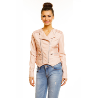 Jacke Leder Look Toxik3 E012 Light Pink M