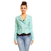 Jacke Leder Look Toxik3 E012 Mint XL