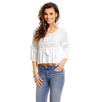 Bluse May Collection MC3438 Weiss M/L