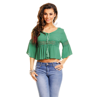 Bluse May Collection MC3438 Grun M/L