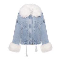 Jacke Jeans Flamant Rose PH 2111 Blau M/L